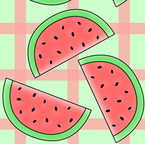 country watermelons fabric by krs_expressions on Spoonflower - custom fabric
