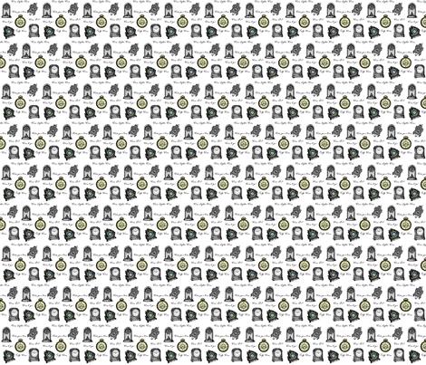Time Clocks fabric by ravynscache on Spoonflower - custom fabric