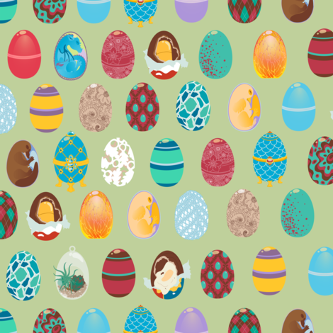 An Egg in Every Basket fabric by cola82 on Spoonflower - custom fabric