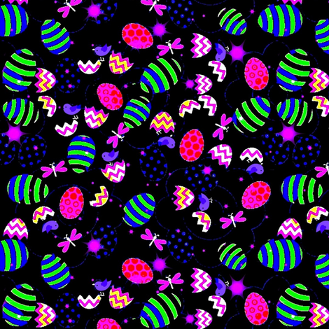 Painted Easter Eggs 2 fabric by dk_designs on Spoonflower - custom fabric