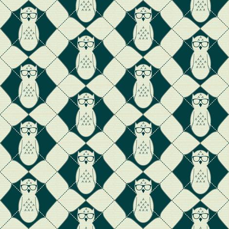 Equation Owl Chevron fabric by spikymammal on Spoonflower - custom fabric