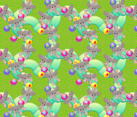 Baby Ellies Having a Ball fabric by glimmericks on Spoonflower - custom fabric