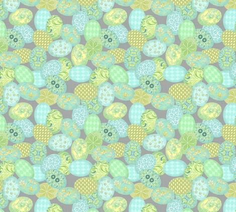 Painted Eggs fabric by nicoletamarin on Spoonflower - custom fabric