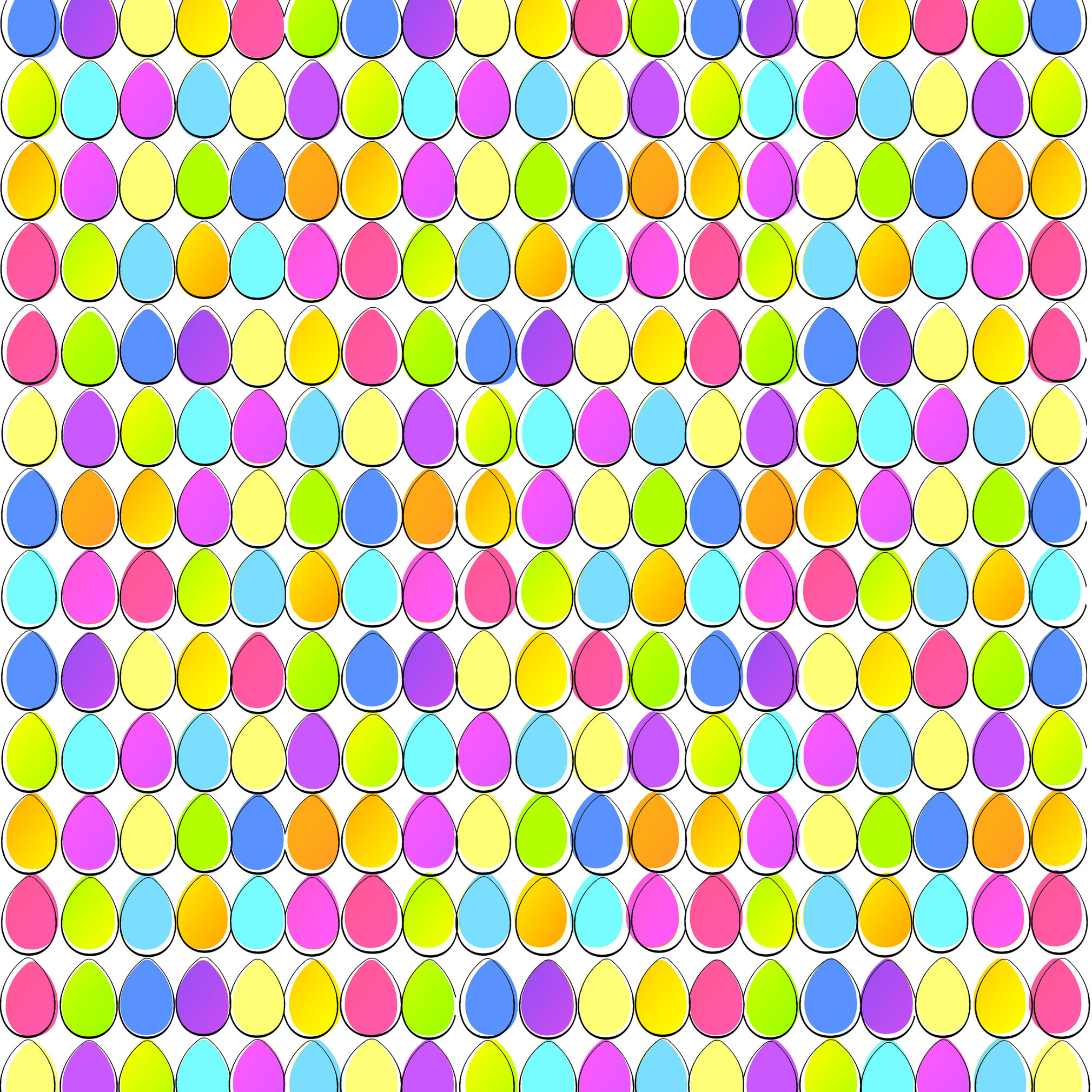 eggs_by_the_yards fabric by ludditepress on Spoonflower - custom fabric
