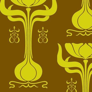Art Nouveau41-green/brown