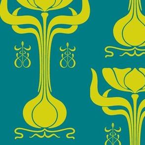 Art Nouveau41-blue/green