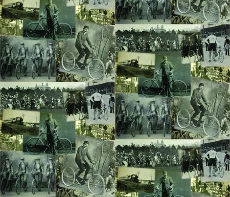 Victorian Bicycling: Medium fabric by callioperosehandcarjones on Spoonflower - custom fabric