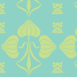 Art Nouveau43-green/aqua
