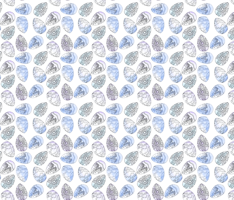 Watercolour Eggs fabric by louisehenderson on Spoonflower - custom fabric