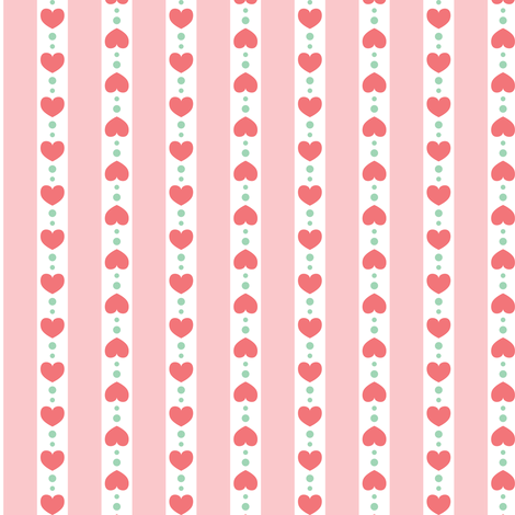 Rayures à coeurs fabric by petitspixels on Spoonflower - custom fabric