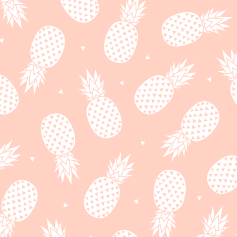 Pineapple - Blush Background (small) fabric by kimsa on Spoonflower - custom fabric