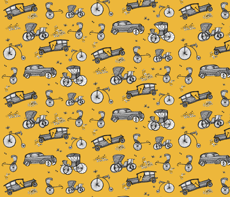 Wheels of time!  fabric by designery on Spoonflower - custom fabric