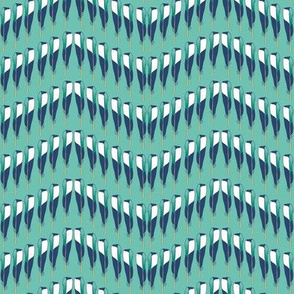 Magpie Feather Chevron Teal