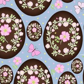 Sweet Eglantine on Chocolate Easter Eggs - Large Scale