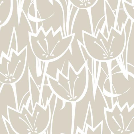 Tulips fabric by jillbyers on Spoonflower - custom fabric