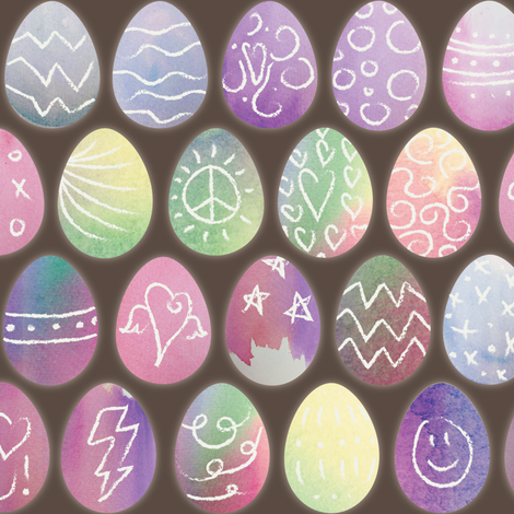 Watercolored Easter Eggs fabric by polyesterdress on Spoonflower - custom fabric