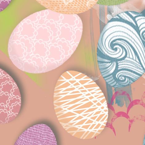 Pretty Painted Eggs fabric by sheila's_corner on Spoonflower - custom fabric