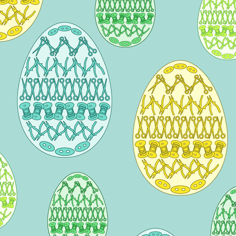 Crafty peoples' pysanky fabric by ravynka on Spoonflower - custom fabric