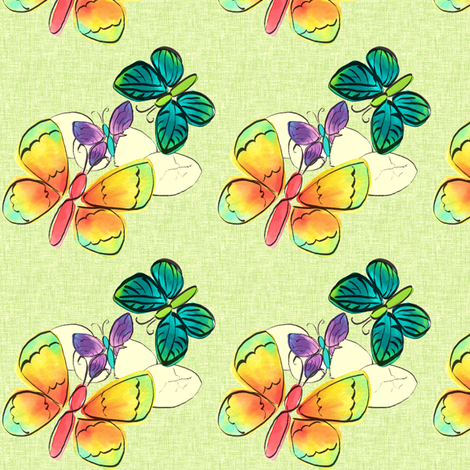 Watercolor Easter fabric by inkwolf on Spoonflower - custom fabric