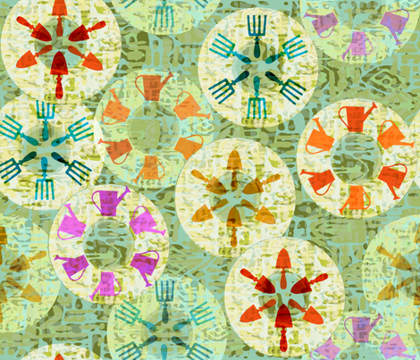 GardenToolFever fabric by catail_designs on Spoonflower - custom fabric