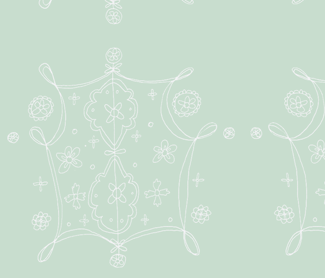 Whimsical Floral Lantern Pattern White fabric by artthatmoves on Spoonflower - custom fabric