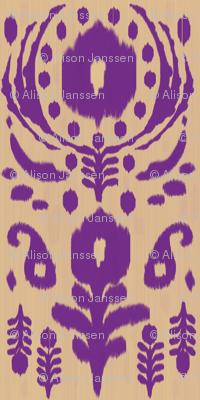 floral ikat - purple