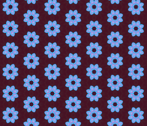 Polymer Clay-Blue Petals fabric by koalalady on Spoonflower - custom fabric