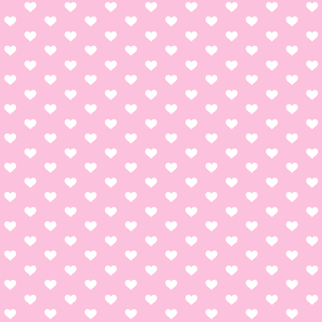 Hearts White on Cotton Candy fabric by juliesfabrics on Spoonflower - custom fabric