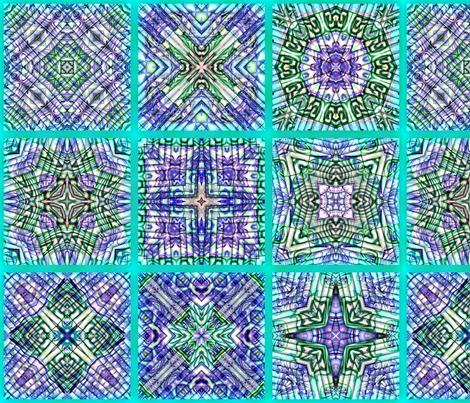 Cheater Polymer aqua-blue fabric by koalalady on Spoonflower - custom fabric
