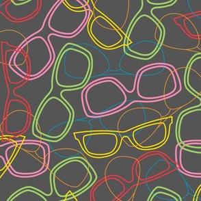 Sunglasses Outline Dark Grey