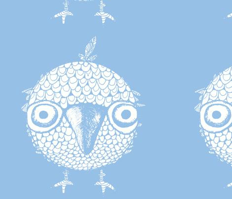 Blue Bird of Happiness fabric by artthatmoves on Spoonflower - custom fabric