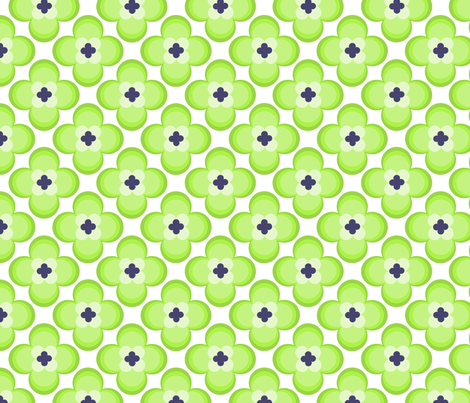 vintage green flowers fabric by ellila on Spoonflower - custom fabric