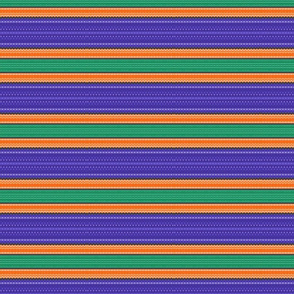 Blue orange and green stripes