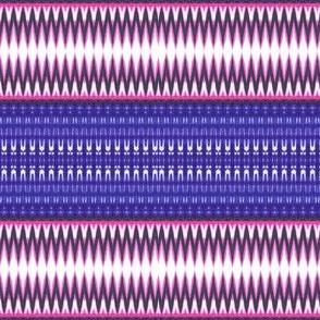 Pinky stripes on blue