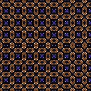Blue crosses on brown