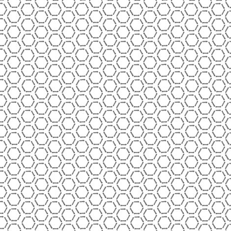 Grey Honeycomb fabric by spikymammal on Spoonflower - custom fabric