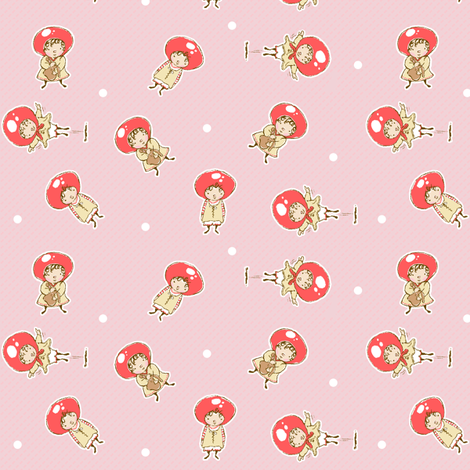 Droplets PINK fabric by puddlefoot on Spoonflower - custom fabric