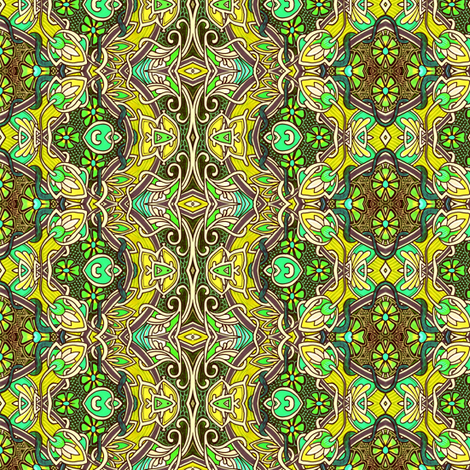 Swimming in Avocado Sunshine with Buds fabric by edsel2084 on Spoonflower - custom fabric