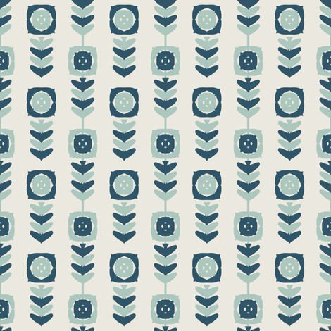 Single Stem Blue fabric by kathyjuriss on Spoonflower - custom fabric