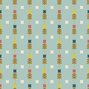 Floral Stripes Blue