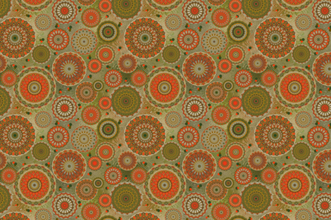 Tangerine Baroque fabric by elarnia on Spoonflower - custom fabric