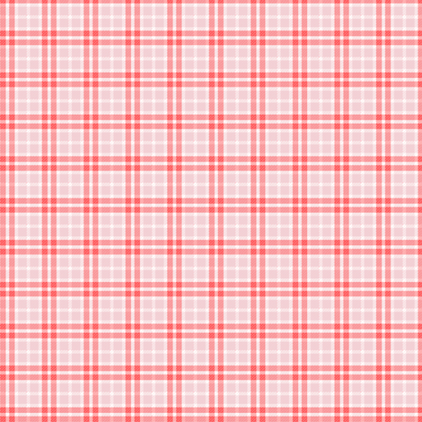 Plaid RED/PINK fabric by puddlefoot on Spoonflower - custom fabric