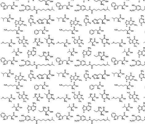 Molecules! fabric by silkaphyllis on Spoonflower - custom fabric