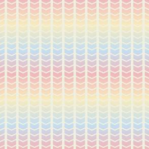 rainbow chevron wide