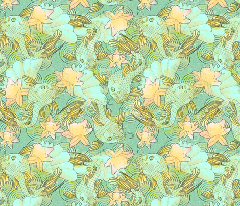 koi fabric by kociara on Spoonflower - custom fabric