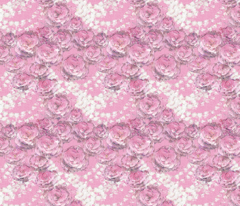 roses and pearls fabric by kociara on Spoonflower - custom fabric