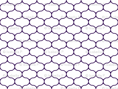 Wire White and Deep Grape