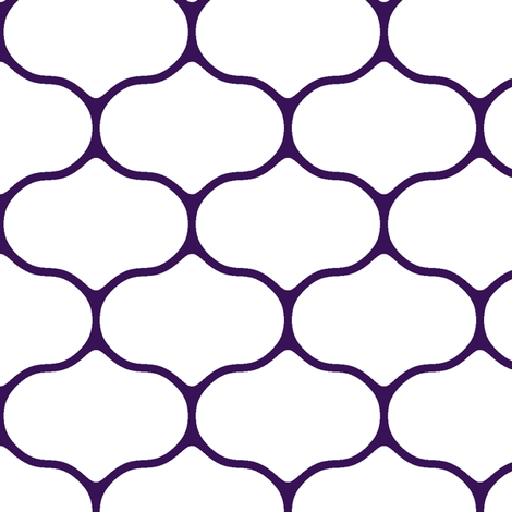 Wire White and Deep Grape fabric by inscribed_here on Spoonflower - custom fabric