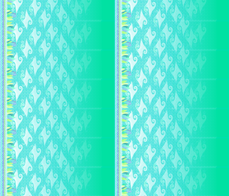 ceruleanverde double strip fabric by glimmericks on Spoonflower - custom fabric