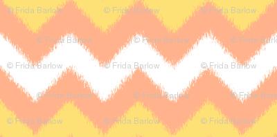 Orange Cream Popsicle Chevron Ikat